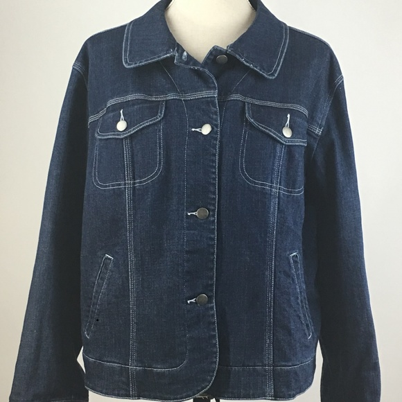 Chico's Jackets & Blazers - Chicos Jean Jacket SZ 2 Button Front Denim JK13